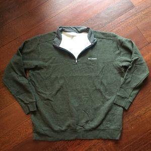 Men's Columbia Olive Pullover Quarter Zip NWOT